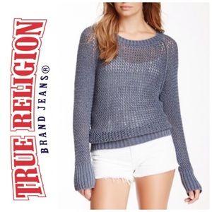 💯Authentic True Religion Euro Crochet Sweater (M)